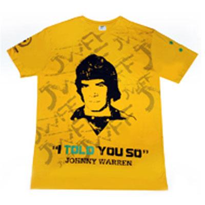 Johnny Warren t-shirt #IToldYouSo #JWFF