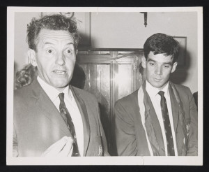 Australian Coach 'Uncle Joe' Vlasits with Captain Socceroo Johnny Warren