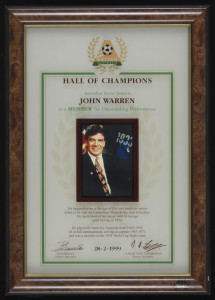 Johnny Warren Soccer Australia Hall of Fame